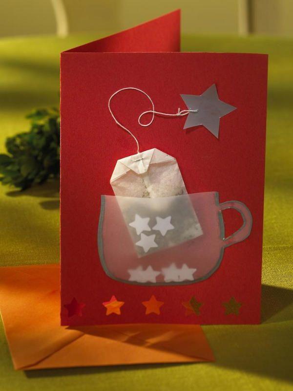 einladungskarte zum adventstee weihnachtskarten. Black Bedroom Furniture Sets. Home Design Ideas