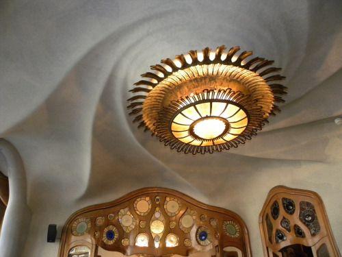 Antonio Gaudi architect, Interior of The Casa Batlló in Barcelona, Spain Follow: Love-Spain