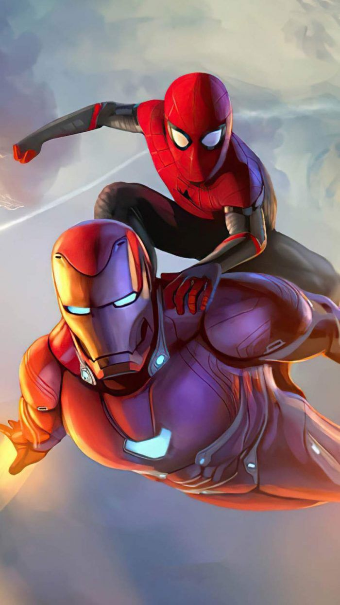 Spider man and iron man - iPhone Wallpapers