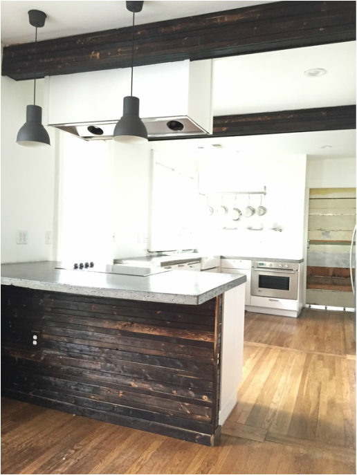 Ikea Cabinet Installation, Concrete Countertops U0026 Burnt Clad Beams. This Is  All On My