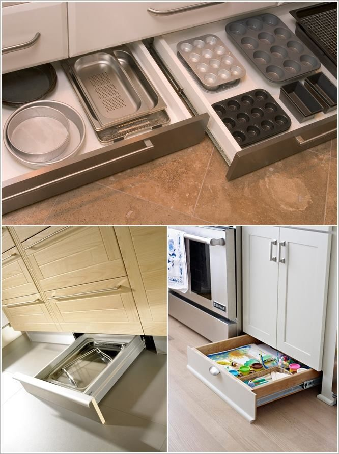 Cajones Zocalo De La Cocina Ideas Cocinas Pequenas Cocinas
