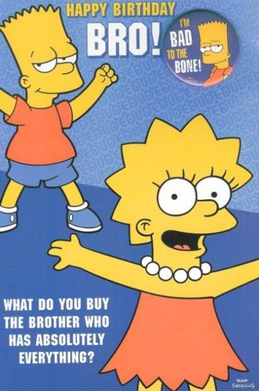 Simpsons Birthday Wish Brother