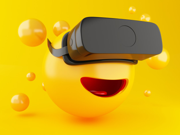 3d Emoji With Vr Headset. in 2020 Vr headset, Photo