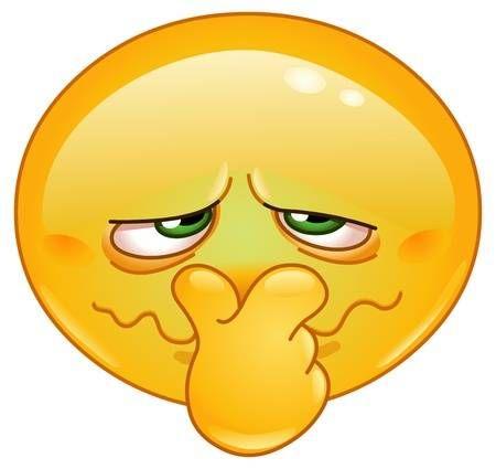 Emoticon tenant son nez à cause d'une mauvaise odeur