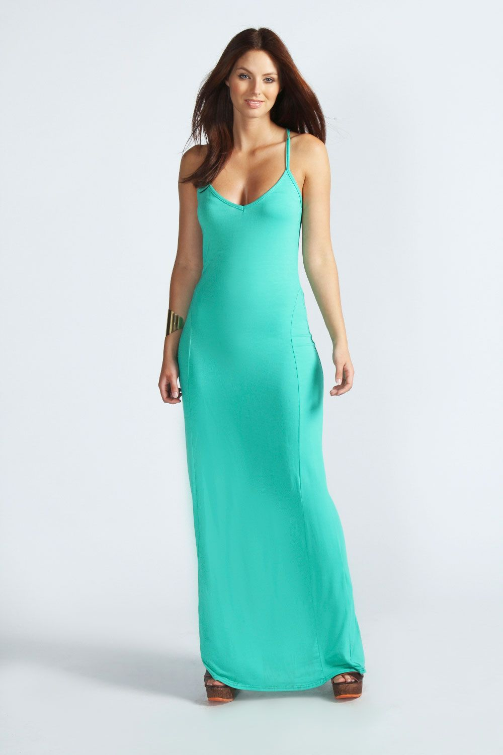 Lucy Strappy Cross Over Back Maxi Dress | Boohoo, Maxi dresses and ...