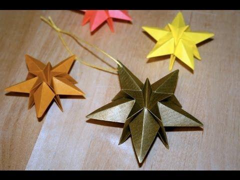 ▶ Origami - Etoile de Noël - YouTube