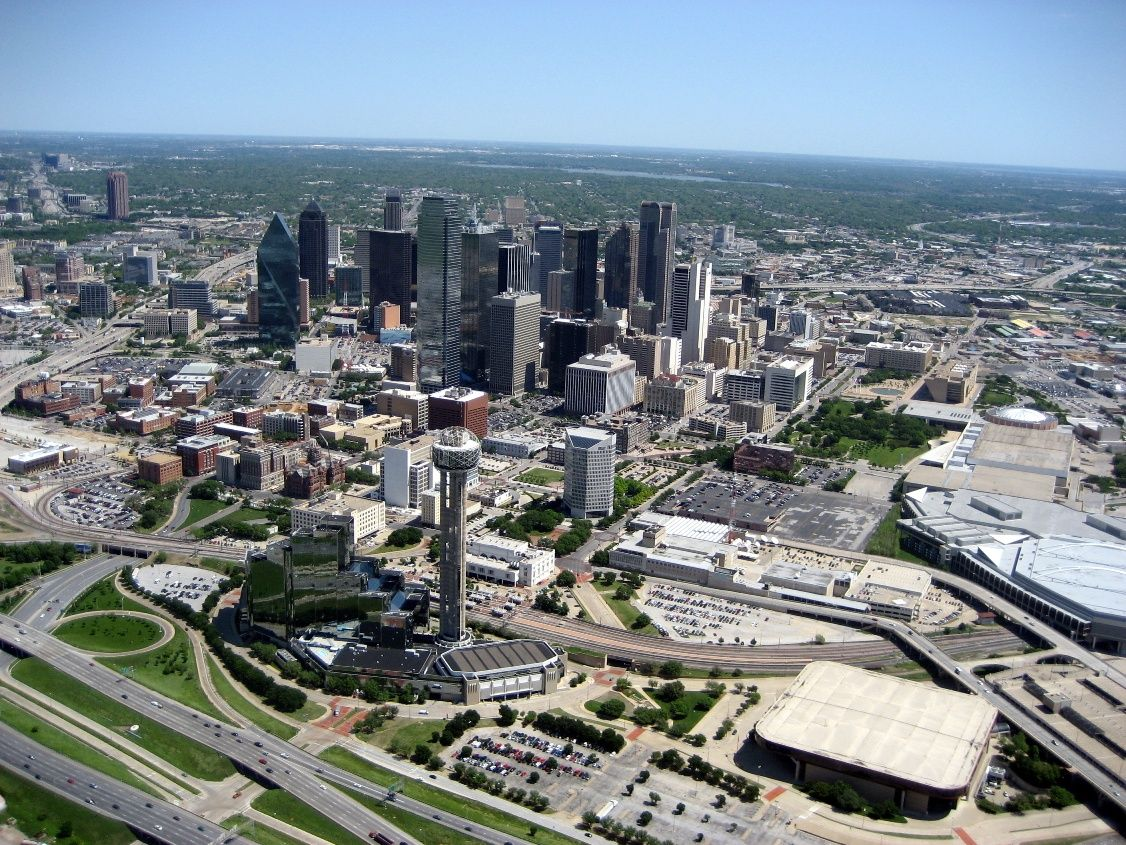 Aerial View Of Dallas Texas Usa Dallas Skyline Aerial View Usa Cities