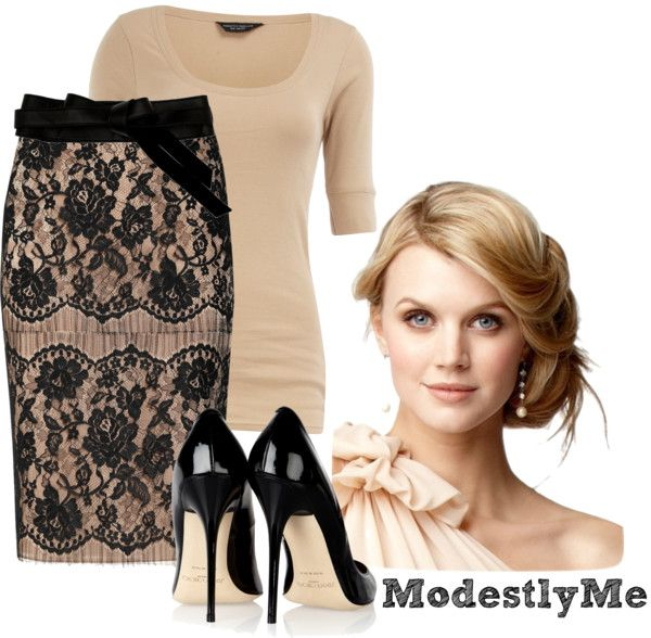 """""""Black-n-Lace"""" by modestlyme on Polyvore"""