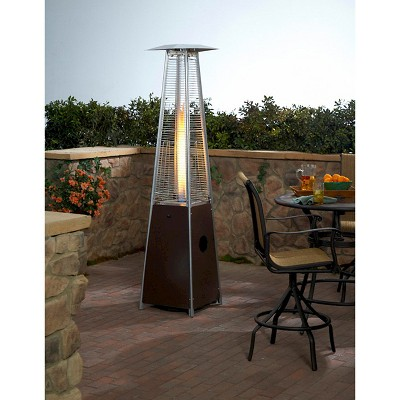 Tall Glass Tube Patio Heater Hammered Bronze Brnz Products