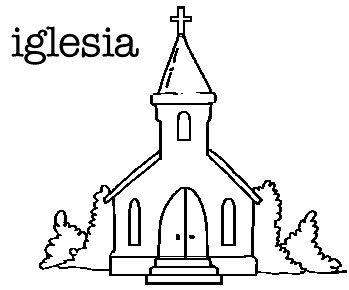 Resultado de imagen para dibujo de iglesia catolica para colorear