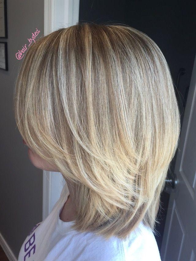 Haare frisuren blonde halblange Ideenfür Frauen
