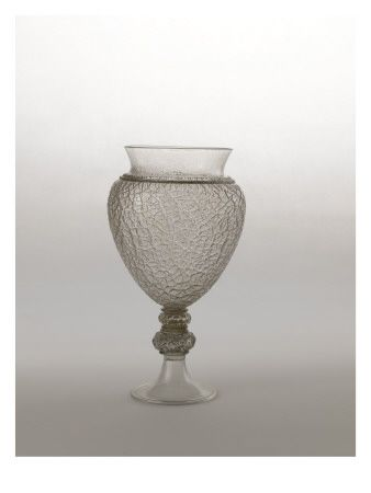 Ciboire en verre craquelé - Musée national de la Renaissance (Ecouen)