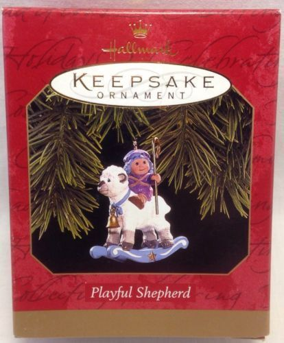 1997 Hallmark Keepsake Ornament Playful Shepherd Rocking Sheep by Sue Tague