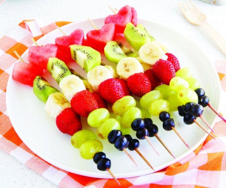 Fruit Kebabs Recipes Fruit Kebabs With Orange Dipping Sauce Thm Recipe Fruit Kebabs Summertime Snacks Kebab