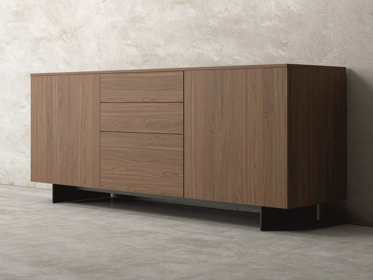 Slim Walnut Sideboard By Dall Agnese Design Imago Design Massimo