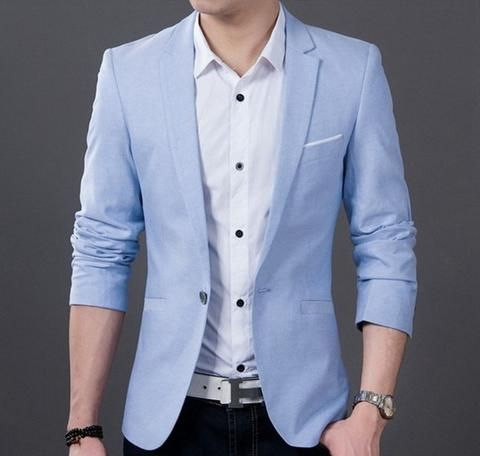Mens Casual Fitted Blazer Blazers For Men Casual Mens Fashion Casual Summer Mens Dress Jackets