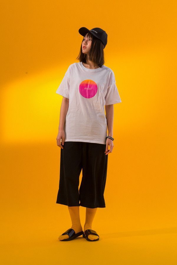 GUE Unisex Ombre Circle 69 Tee   White