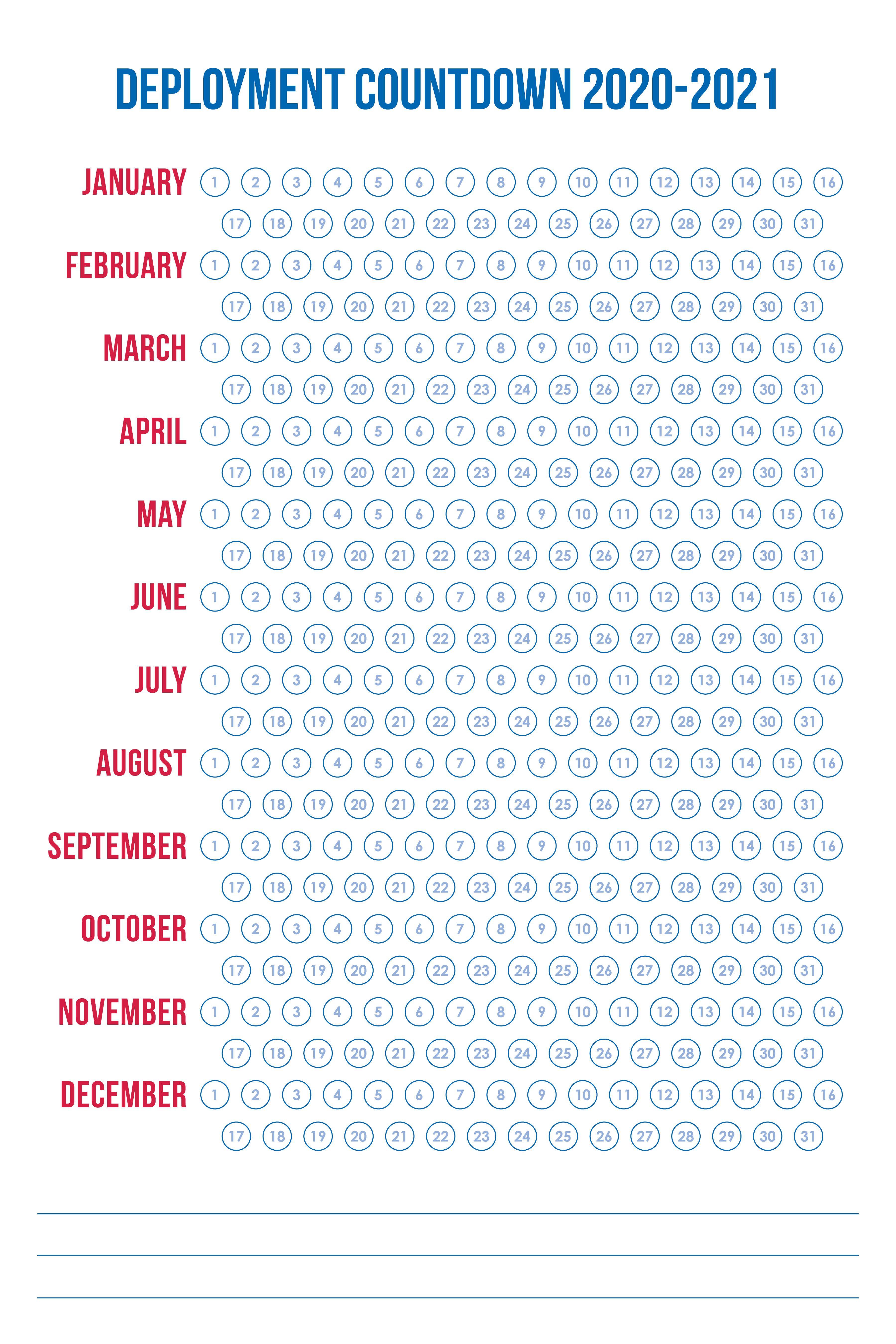 Countdown Print In 2020 Deployment Countdown Deployment Kids Countdown Calendar