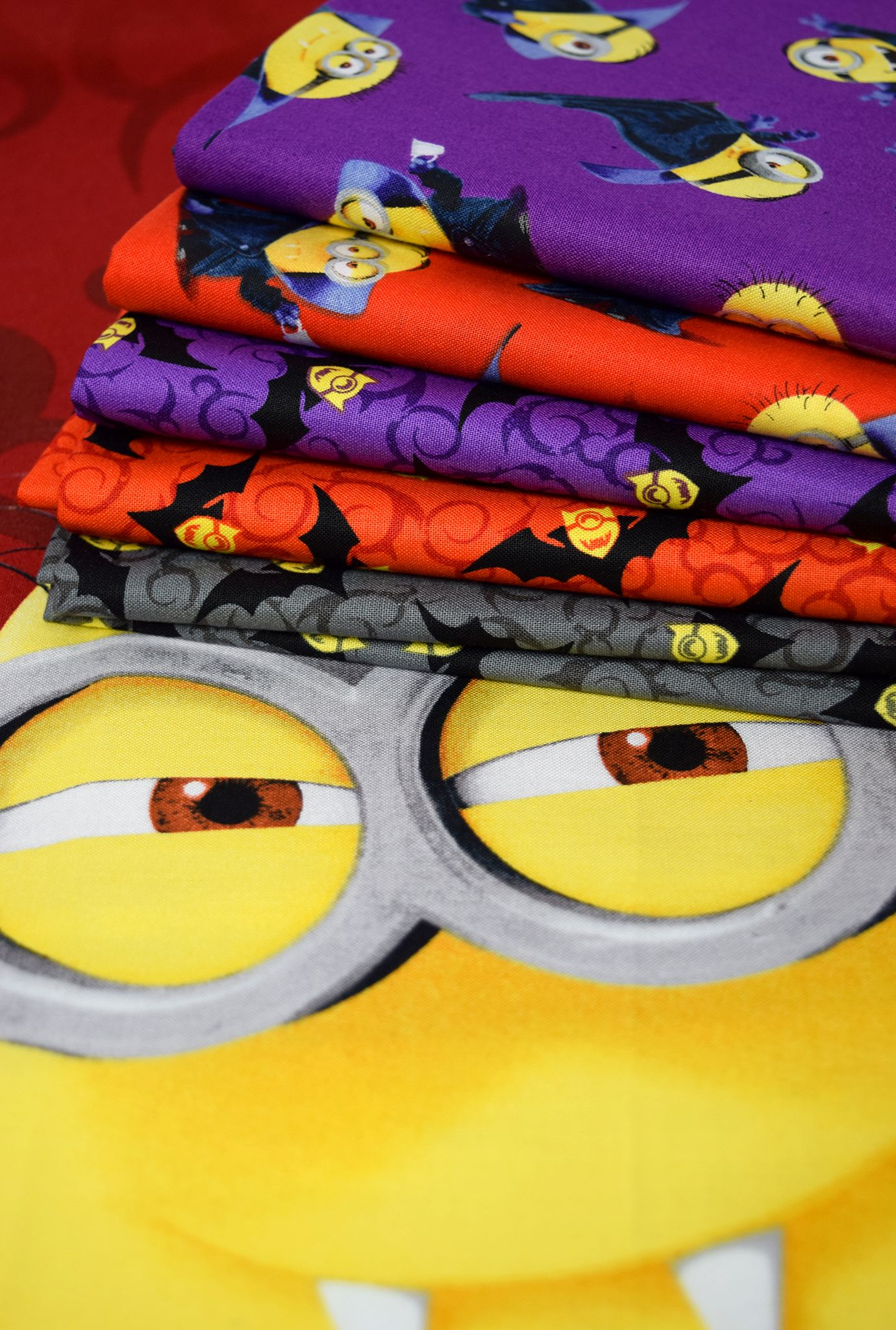 The Minions Take On Halloween Find Bite Me Fabric