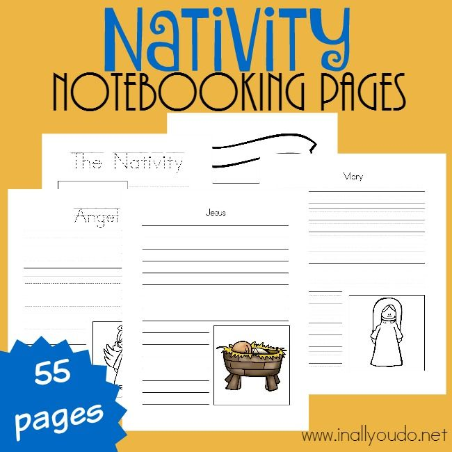 These Nativity Notebooking Pages are a great way to add more depth and meaning to reading the Christmas story from the Bible this year. There are pages for kids of all ages and tips for using them! {55 pages} :: www.inallyoudo.net