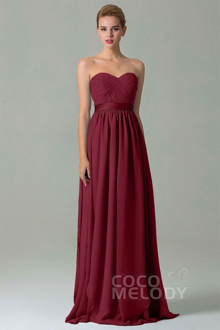 Burgundy long bridesmaid dress $82.40