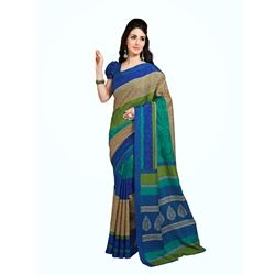 Multi coloured saree fabricated by Mukta, for you, made from silk, this saree measures 6.0m in length including unstitched blouse piece.