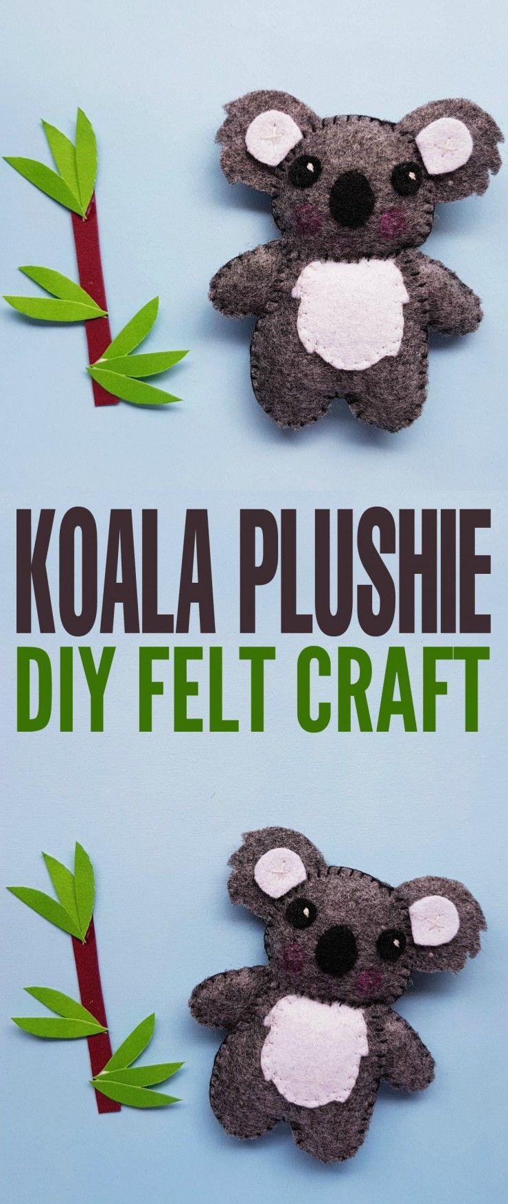 DIY Koala Plushie Felt Craft - Frugal Mom Eh!