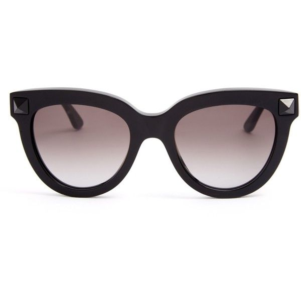 314813c6a7 Valentino Rockstud cat-eye frame sunglasses ( 287) ❤ liked on Polyvore  featuring accessories
