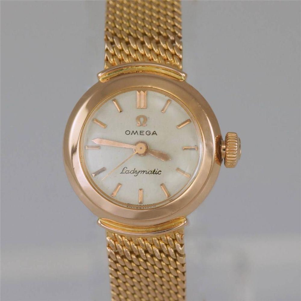 ladies gold omega watches vintage