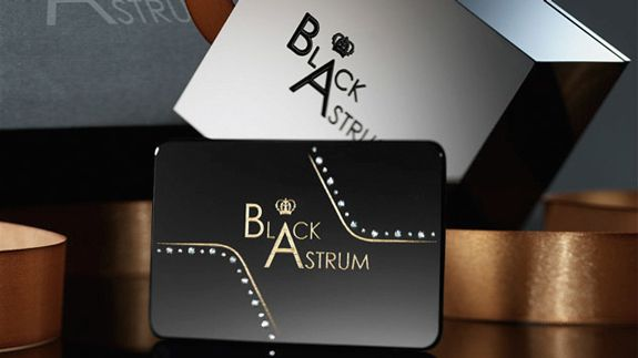 Black Astrum S Most Expensive Business Card It Can Be Produced For 1 500 Dollars Per Card Black Astrum Signat Visiting Cards Diamond Studs Signature Cards