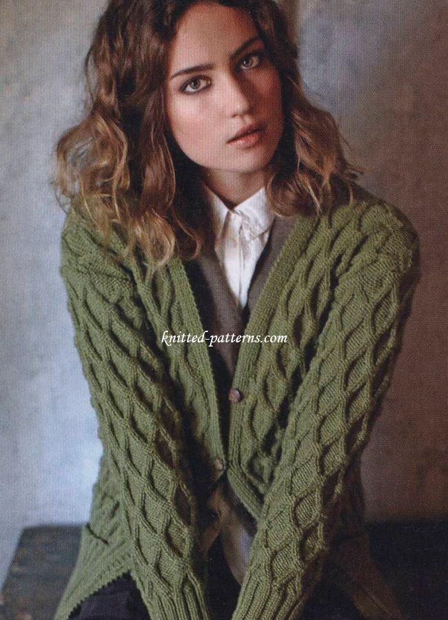 Free Pattern For Nice Boyfriend Cardi Aran Sweaters Ladies