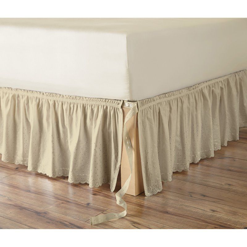 Eyelet Adjustable Bedskirt By Better Homes And Gardens