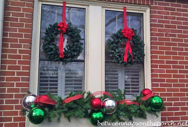 Christmas Decorating Ideas Porches, Doors and Windows Porch doors