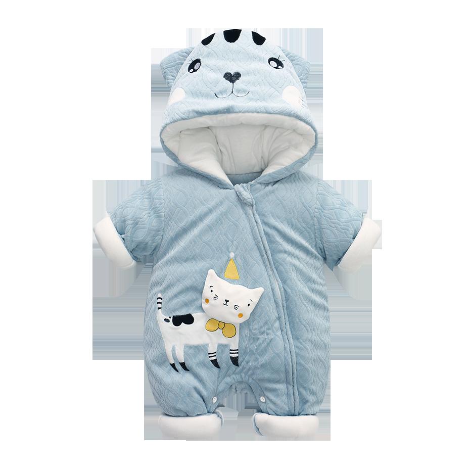 796fa1d8a05d Down Cotton Baby Rompers Winter Thick Boys Costume Girls Warm Infant  Snowsuit Kid Jumpsuit Children Outerwear Baby Wear 0-36m