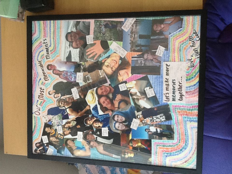 A Collage Of Our Relationship A Great Homemade Gift For My