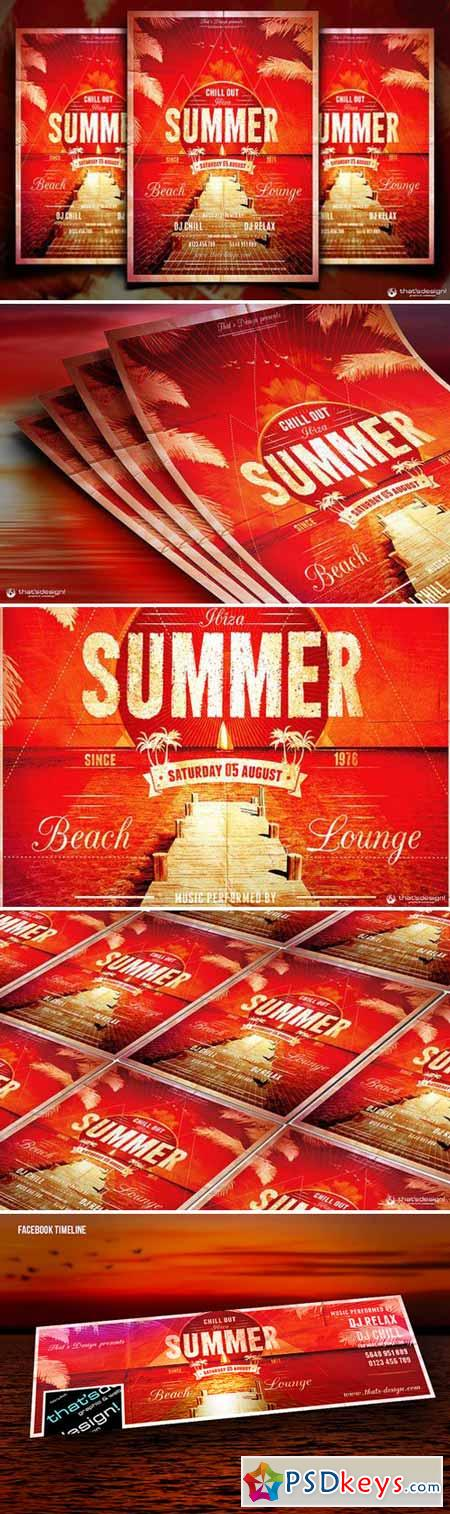 Summer Lounge Flyer Template V1 91166 Psd Pinterest Flyer - summer flyer template