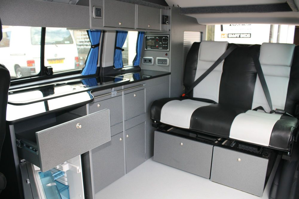 camper or campervan conversion unit vw t4 t5 renault. Black Bedroom Furniture Sets. Home Design Ideas