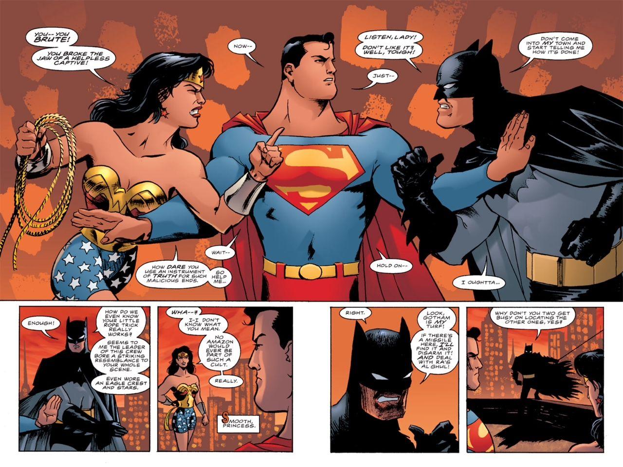 A civil disagreement in batman superman wonder woman trinity 2 matt