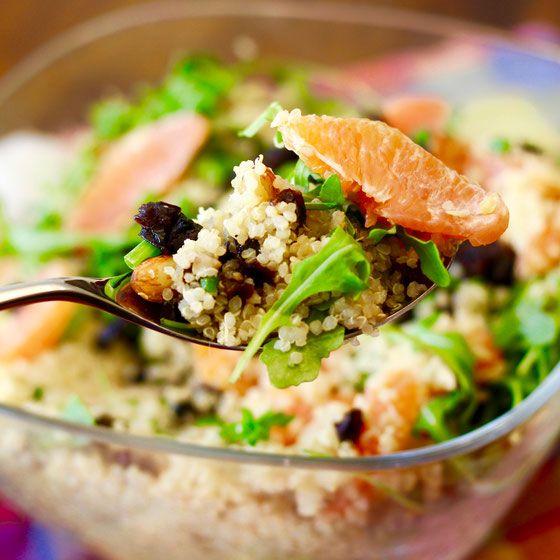 Citrus Quinoa Salad with Prunes