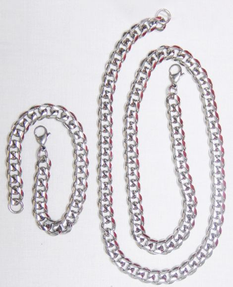 Exclusive Men Antique Stainless Steel chain with Bracelete