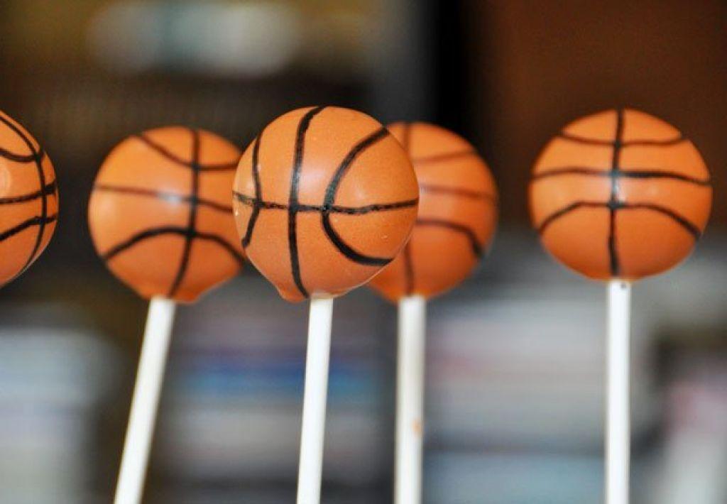 Basketball mini cake pops cake design and cookies