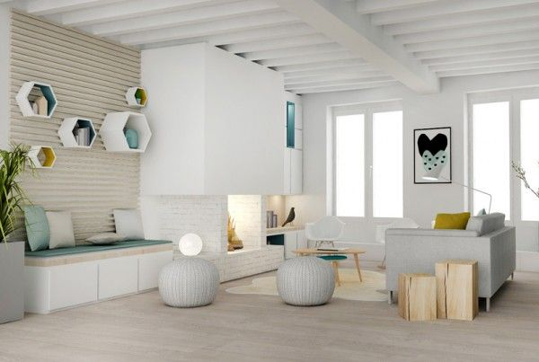 Un Bain De Lumiere Amenagement Renovation Appartement Lyon Villeurbanne Architecture D Interieur Salle A Manger Et Salon Petit Salon Amenagement Chambre