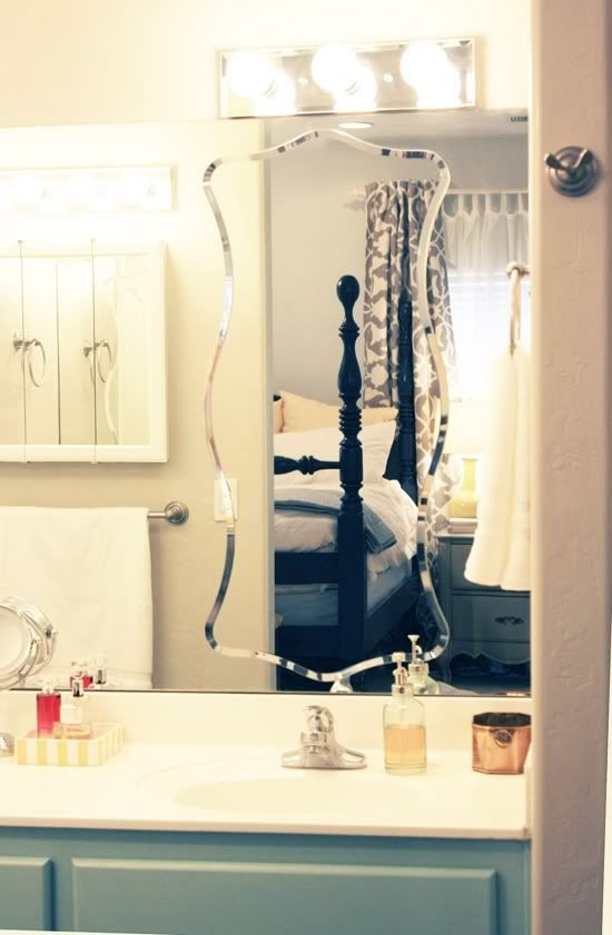 Photos On Ikea frameless mirror on top of your boring bathroom mirror I would have never thought