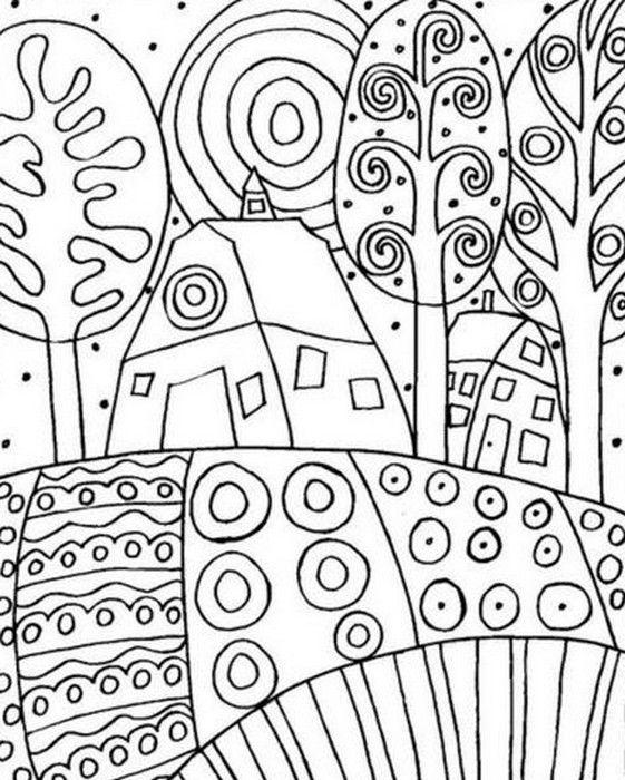 Adult coloring page Gustav Klimt