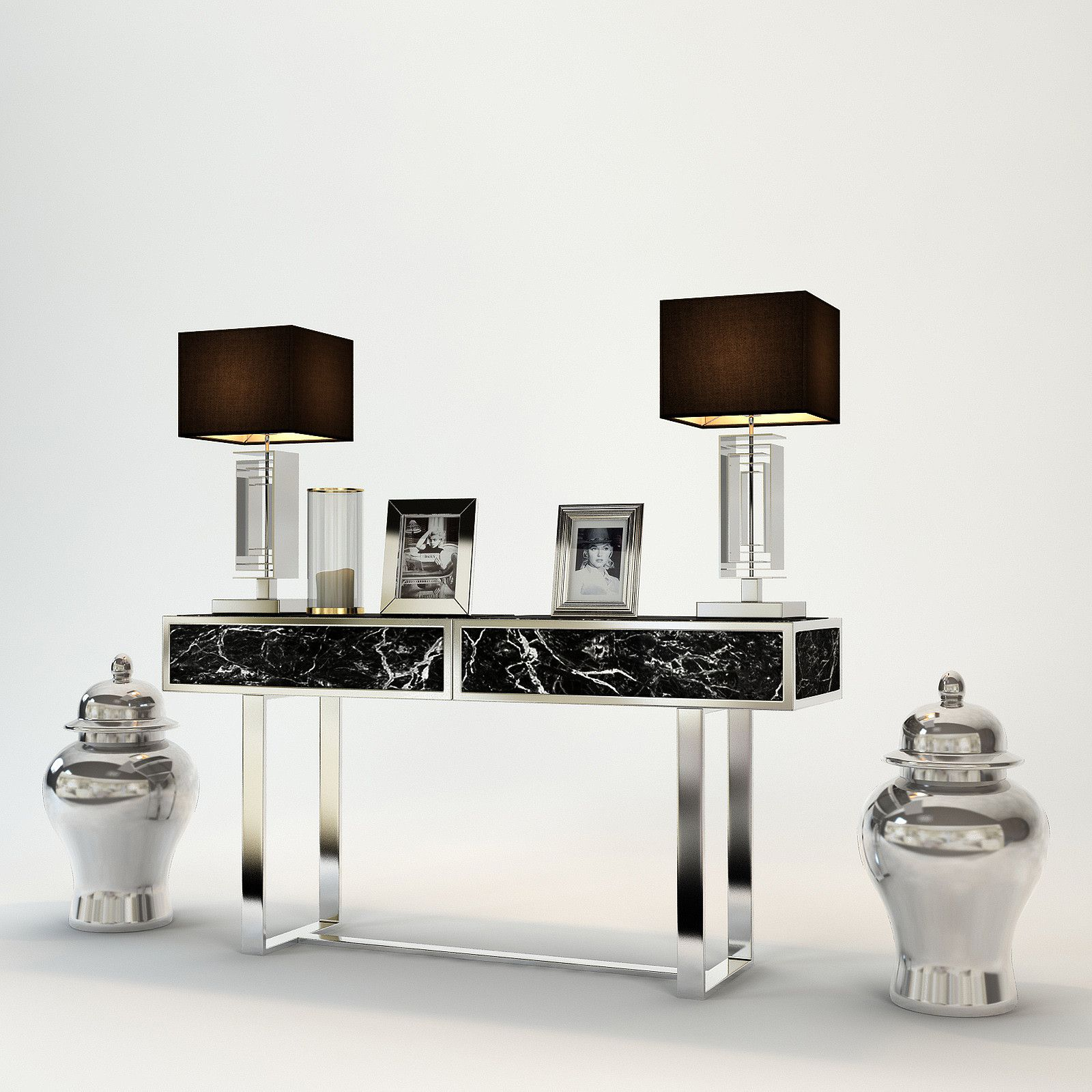 Eichholtz military console table houseology - 3d Max Eichholtz Console Table