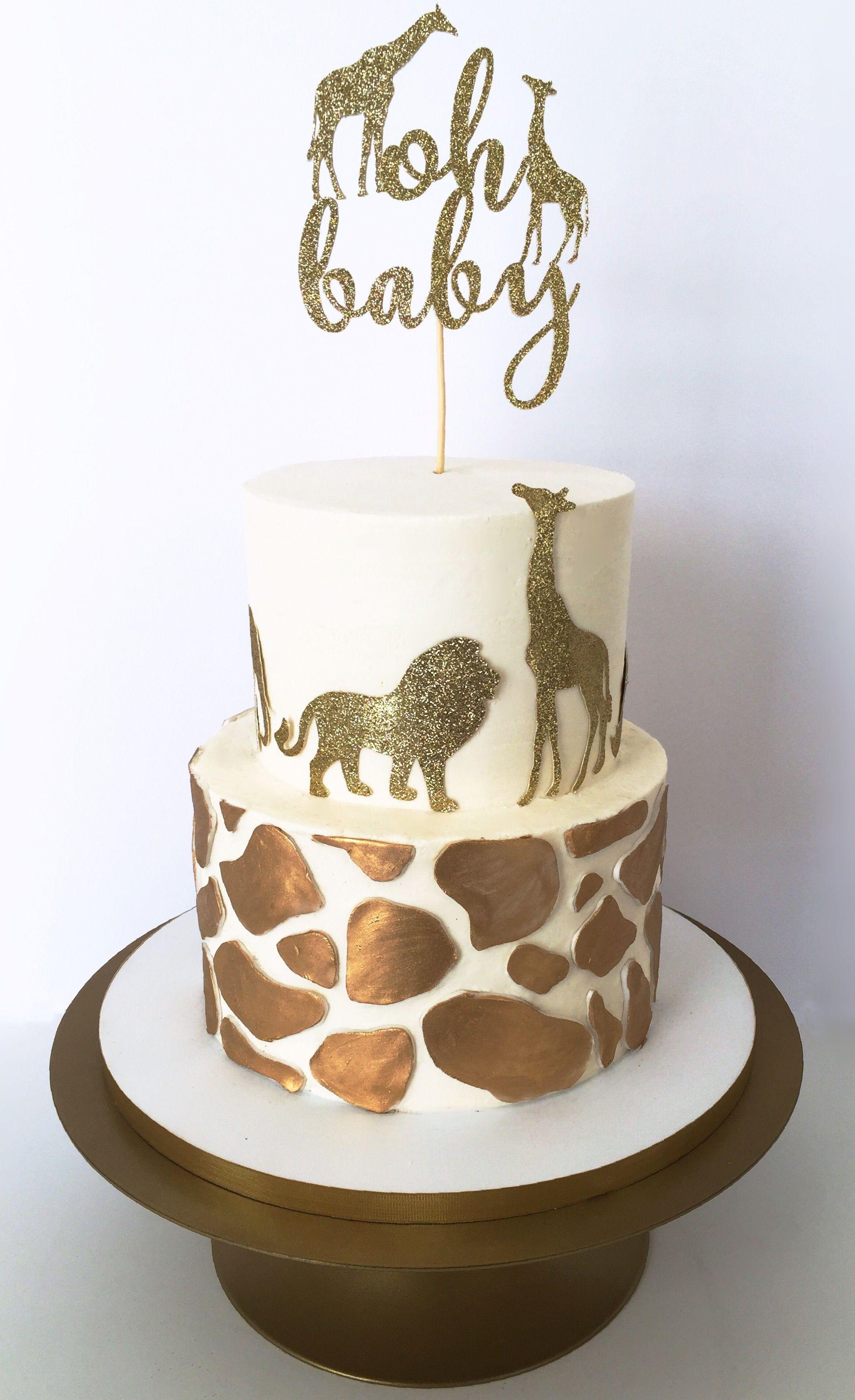 Safari Baby Shower Cake For Boy : safari, shower, Safari, Buttercream, Shower, Cake,, Jungle, Birthday, Cakes