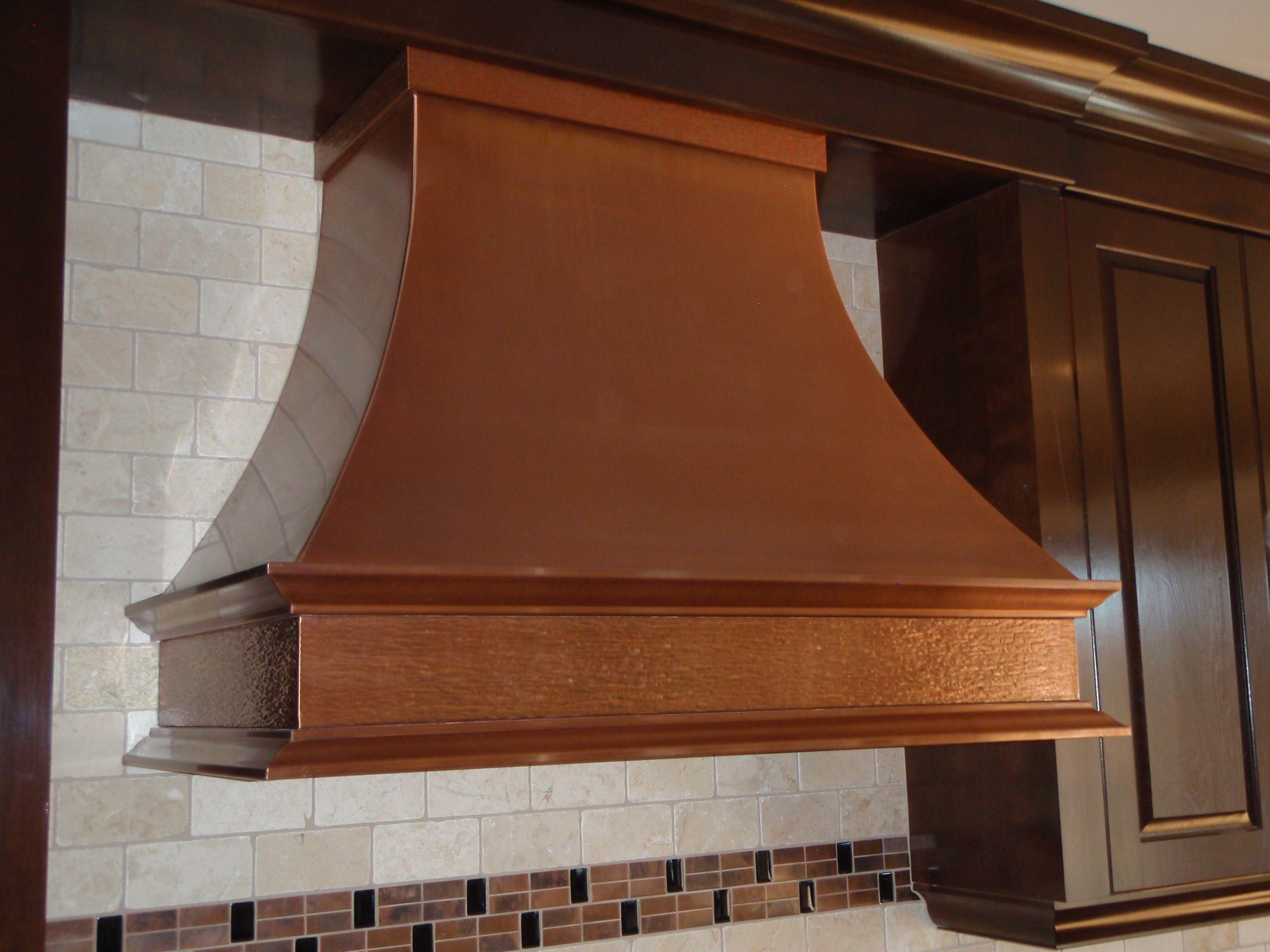 Copper P28 - Custom Copper Range Hood - Hoods by Hammersmith