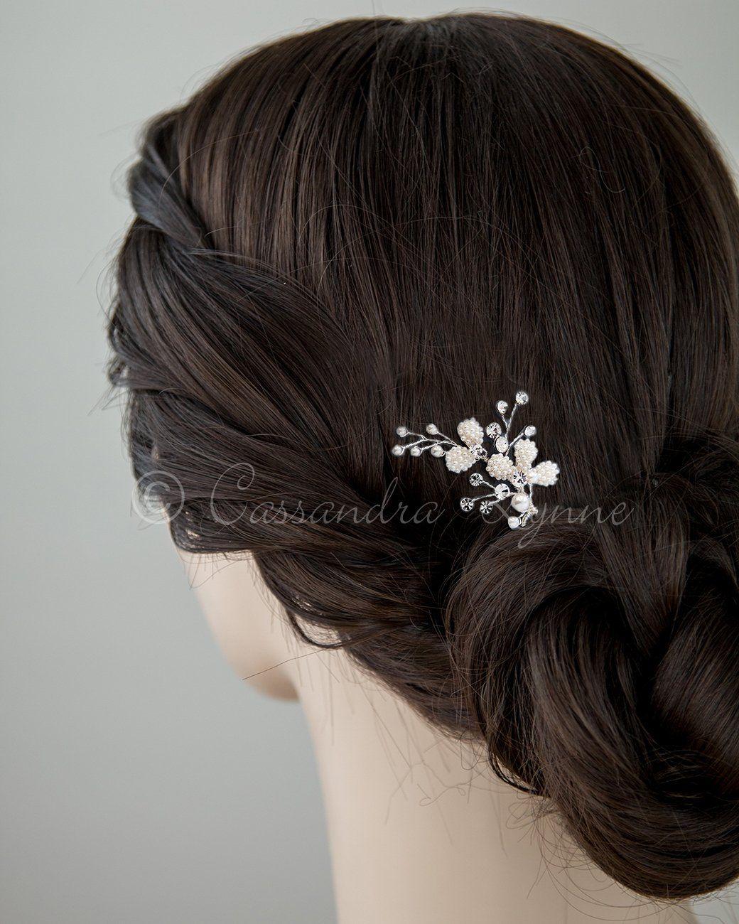Ivory Pearl Wedding Hair Pin in Hair styles Pinterest
