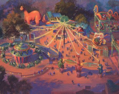 Concept overview for Chester & Hester's Dinorama at Disney's Animal Kingdom