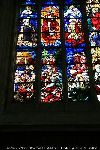 Le Jour ni l'Heure 1973 : Beauvais, Oise, Picardie, église Saint-Étienne, XIIe-XVIe s., vitraux d'Engrand Le Prince, actif de 1491 à †1531 — Jugement dernier, 1518, lundi 13 juillet 2009, 14:20:44 by Renaud Camus, via Flickr